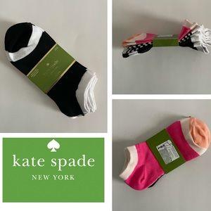 KATE SPADE 3-Pair No Show Socks